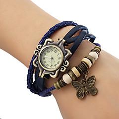 preiswerte Damenuhren-Damen Armband-Uhr Armbanduhren für den Alltag PU Band Schmetterling / Böhmische / Modisch Schwarz / Blau / Braun / Ein Jahr / Jinli 377