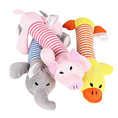 Cat Toy Dog Toy Pet Toys Chew Toy Cartoon Squeak / Squeaking Plush For Pets