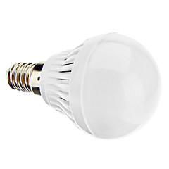 お買い得  LED 電球-daiwl E14 3ワット220-250lm 6000-6500k自然な白色光がボール電球(220-240V)を導いた