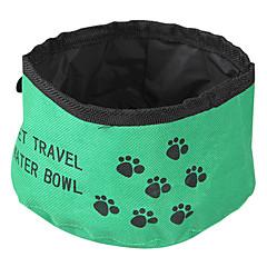 قط كلب الطاسات وزجاجات حيوانات أليفة السلطانيات والتغذية قابلة للطى أحمر أخضر أزرق نسيج