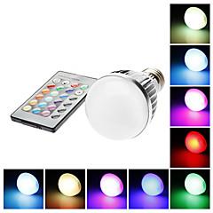お買い得  LED 電球-E26 / E27 LEDボール型電球 G60 1 LEDビーズ リモコン操作 RGB 85-265 V