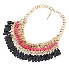 Dames Choker kettingen Vintage Kettingen Acryl Legering Modieus Kostuum juwelen Sieraden Voor Dagelijks