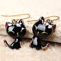 Women's Drop Earrings Cute Style Resin Alloy Animal Shape Cat Jewelry For Daily