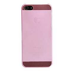 Недорогие Кейсы для iPhone 5-Для Кейс для iPhone 5 Матовое / Полупрозрачный Кейс для Задняя крышка Кейс для Один цвет Твердый PCiPhone 7 Plus / iPhone 7 / iPhone 6s