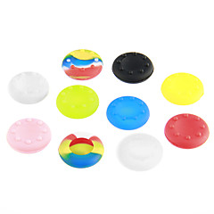 Shine Zöld Amazing 10 Sets Thumb Stick markolatok PS3 Controller for Xbox 360 Wii Wii u (Random Color)