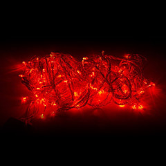 10M 100-LED Red Light LED Joulukoristeita String Light (220V)