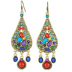Women's Drop Earrings Festival/Holiday Costume Jewelry Statement Jewelry European Resin Alloy Drop Jewelry For Wedding Party