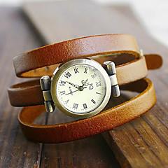 preiswerte Damenuhren-Damen Armband-Uhr Quartz Armbanduhren für den Alltag PU Band Analog Böhmische Modisch Schwarz / Blau / Rot - Rot Grün Blau Ein Jahr Batterielebensdauer / Jinli 377