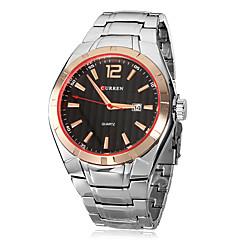 お買い得  メンズ腕時計-CURREN 男性用 リストウォッチ クォーツ カレンダー ステンレス バンド ハンズ チャーム ドレスウォッチ シルバー - ブラック ゴールドとブラック ゴールド / シルバー
