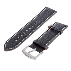Men's 21.3mm Leather Watch Band (Black) Cool Wrist Watch Unique Watch Fashion Watch