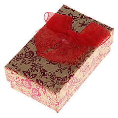billige Smykkeemballage og displays-Smykkeskrin Papir Rød