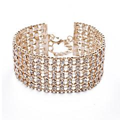 preiswerte Armbänder-Armbänder Tennis Armbänder Aleación / Strass Hochzeit / Party Schmuck Geschenk Goldfarben,1 Stück