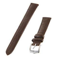 cheap Watch Accessories-Women's 14mm Genuine leather Watch Band (Brown)