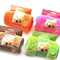 お買い得  犬用品&グルーミング用品-犬 タオル クリーニング ペット用 マット/パッド ソフト オレンジ コーヒー グリーン ピンク ペット用
