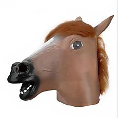 Máscara Castanho Big cabeça de cavalo estilo Latex Rosto para o partido