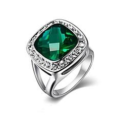お買い得  指輪-女性用 クリスタル ステートメントリング - リング 用途 結婚式 / パーティー / カジュアル
