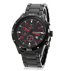 お買い得  メンズ腕時計-CURREN 男性用 リストウォッチ カレンダー ステンレス バンド チャーム / ファッション ブラック