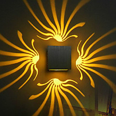 3w led geïntegreerde moderne / eigentijdse gegalvaniseerde functie voor led-lamp inclusief wandlamp ac 85-265