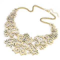 preiswerte Halsketten-Damen Kragen / Statement Ketten - Blume Europäisch, Modisch Silber, Golden Modische Halsketten Schmuck Für Party, Alltag