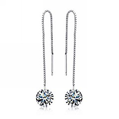 preiswerte Ohrringe-Damen Tropfen-Ohrringe - Sterling Silber Kubikzirkonia Schmuck Silber Für Party Alltag Normal
