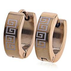 Серьга Серьги-кольца Бижутерия Повседневные Титановая сталь Женский Золотой