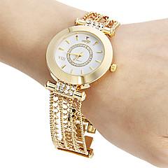 お買い得  レディース腕時計-女性用 ブレスレットウォッチ 日本産 透かし加工 銅 バンド 光沢タイプ / カジュアル / エレガント ゴールド