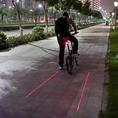 tanie Światła rowerowe-Światła rowerowe Tylna lampka rowerowa Laser LED Kolarstwo Wodoodporne Laser Ostrzeżenie Strike Bezel LED Light Lumenów Bateria