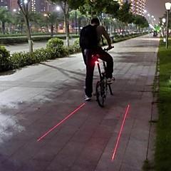 voordelige -Fietsverlichting Achterlicht fiets Laser LED Wielrennen Waterbestendig Laser Waarschuwing Slagring LED Lamp Lumens Batterij