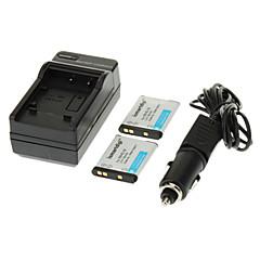 니콘 S100 S2500 S2600 S3100 S3300 S4300 s6400에 대한 ismartdigi 700mah 카메라 배터리 (2 개) + 자동차 충전기