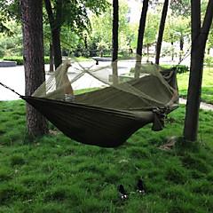 お買い得  キャンプ用寝袋/マット-キャンプ用蚊帳付きハンモック アウトドア キャンプ 防風, 携帯用, 超軽量(UL) キャンバス / ナイロン 狩猟, 釣り, ハイキング のために 2人
