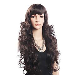 高品質の20%人毛&80%耐熱ファイバー毛のキャップレスの長い波状のかつら(ブロンド)