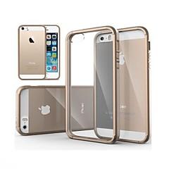 Недорогие Кейсы для iPhone-Кейс для Назначение iPhone 5 Кейс для iPhone 5 Прозрачный Кейс на заднюю панель Сплошной цвет Твердый ПК для iPhone SE / 5s / iPhone 5