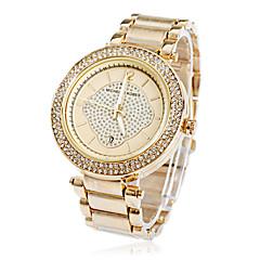 preiswerte Damenuhren-Damen Armbanduhren für den Alltag Quartz Band Glanz Silber / Gold / Rose - Silber Gelb Rose
