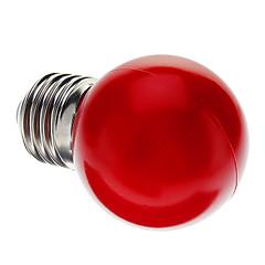 preiswerte LED-Birnen-1pc 0.5 W E26 / E27 LED Kugelbirnen G45 7 LED-Perlen Dip - Leuchtdiode Dekorativ Rot 100-240 V / RoHs