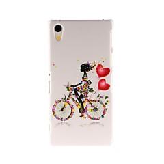 Дело Кинстон велосипедов Девушка Pattern Пластиковые Футляр для Sony Xperia Z2