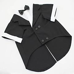 Câini Costume / Σμόκιν Negru / Gri Îmbrăcăminte Câini Vara / Primăvara/toamnă Solid Nuntă / Cosplay