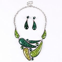 Недорогие Женские украшения-сплав элегантных Высший сорт женщин (ожерелья и серьги) драгоценный камень комплект ювелирных изделий (больше цвета)