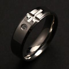 preiswerte Ringe-Herrn Bandringe Personalisiert Luxus Modisch Edelstahl Diamantimitate Kreuz Schmuck Weihnachts Geschenke Party Alltag Normal