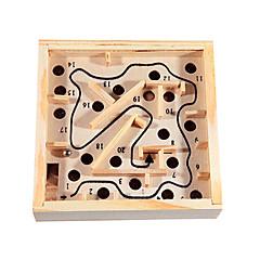abordables Juguetes de la matemáticas-Laberintos y Juegos de Lógica Laberinto Laberinto de madera Juguetes Divertido Madera Clásico Piezas Niños Regalo