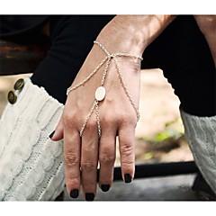 Shixin® Classic Ellipse Shell  Alloy Charm Bracelet(Golden,Silver,Bronze)(1 Pc)