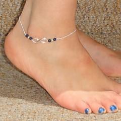 Χαμηλού Κόστους -Μόδα χειροποίητο Number 8 Pattern Κράμα Anklet (μπλε, σκούρο μπλε, μαύρο, ροζ) (1 τεμ)