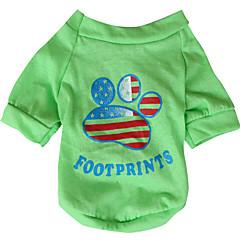 Hond T-shirt Hondenkleding Ademend Nationale Vlag American / USA Geel Groen Kostuum Voor huisdieren