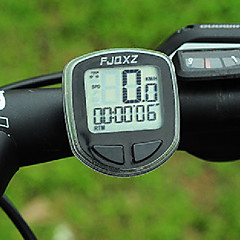FJQXZ Yüksek Kalite Suya Kablolu Siyah Bisiklet Kilometre / Kronometre