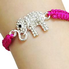 halpa Rannekorut-Naisten Amuletti-rannekorut Uniikki Friendship Käsintehty Muoti Tekojalokivi Kangas Metalliseos Animal Shape Alphabet Shape Elephant