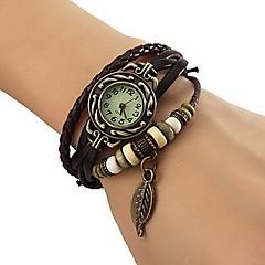 preiswerte Tolle Angebote auf Uhren-Damen Armband-Uhr Armbanduhren für den Alltag PU Band Blätter / Böhmische / Modisch Schwarz / Rot / Orange / Ein Jahr / Jinli 377