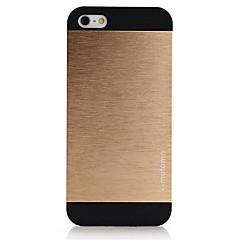 Для Кейс для iPhone 5 Зеркальная поверхность Кейс для Задняя крышка Кейс для Один цвет Твердый Алюминий iPhone SE/5s/5