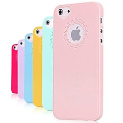 abordables Fundas para iPhone 5S / SE-Funda Para iPhone 5 Apple Funda iPhone 5 En Relieve Funda Trasera Color sólido Dura ordenador personal para iPhone SE/5s iPhone 5