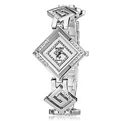 billige Urtilbud-Dame Simuleret Diamant Ur Japansk Quartz Rødguldbelagt Bånd Elegant Sølv Guld