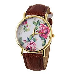 お買い得  大特価腕時計-女性用 リストウォッチ クォーツ カジュアルウォッチ PU バンド ハンズ 花型 ファッション ブラック / 白 / ブルー - レッド グリーン ブルー