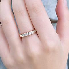 Yüzükler Parti / Günlük Mücevher Paslanmaz Çelik / Yapay Elmas Kadın Evlilik YüzükleriAyarlanabilir Gümüş